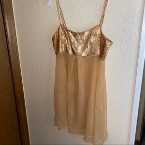 Gold lingerie slip